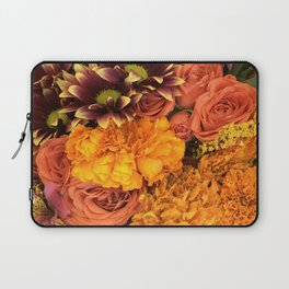 Bright and Beautiful Autumn Floral Flowers Laptop Sleeve