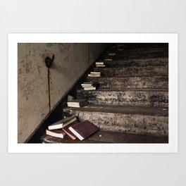 Stairway Of Books Art Print