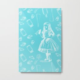 Alice in Wonderland and Jars Metal Print
