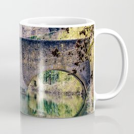 Beautiful Stone Bridge Over the Alzette River at the Bock Casemates Ruins in Luxembourg Coffee Mug