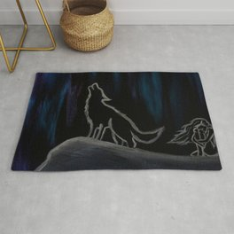 Crying with the Wolves Rug
