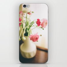 Pink and White Flowers in a Mid-Century Vase iPhone & iPod Skin