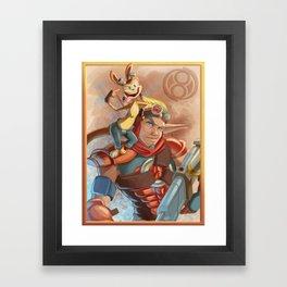 Jak and Daxter Portrait Framed Art Print