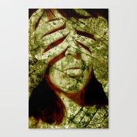 fallout Canvas Prints featuring Fallout by Alice Ferox