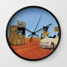 The Outback ATM Wall Clock
