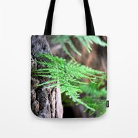 fern Tote Bags featuring fern by  Agostino Lo Coco