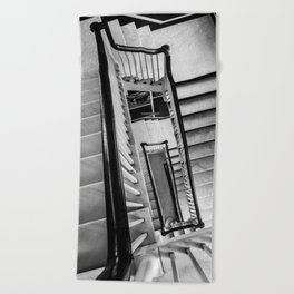 New York stairwell Beach Towel