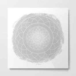 SAHASRARA Boho mandala Metal Print