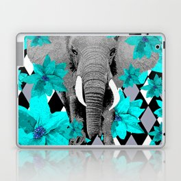 ELEPHANT and HARLEQUIN BLUE AND GRAY Laptop & iPad Skin