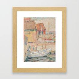 CARL WILHELMSON, BOATHOUSES Framed Art Print
