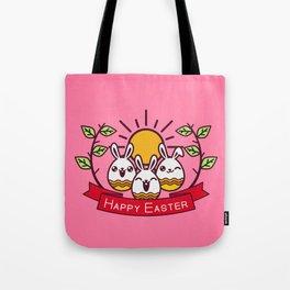 Happy Easter Happy Bunnies Tote Bag