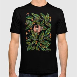 Happy Sloth – Tropical Green Rainforest T-shirt