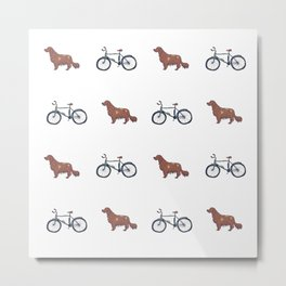 Adventures with a dog and a bicycle Metal Print