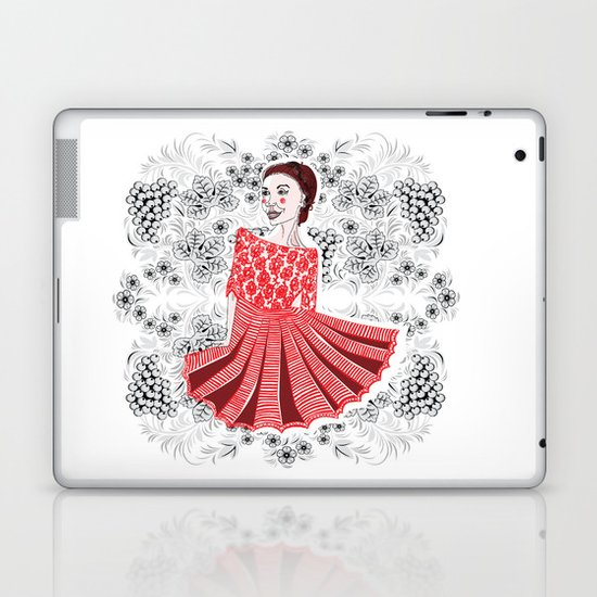 Red Dress Laptop & iPad Skin