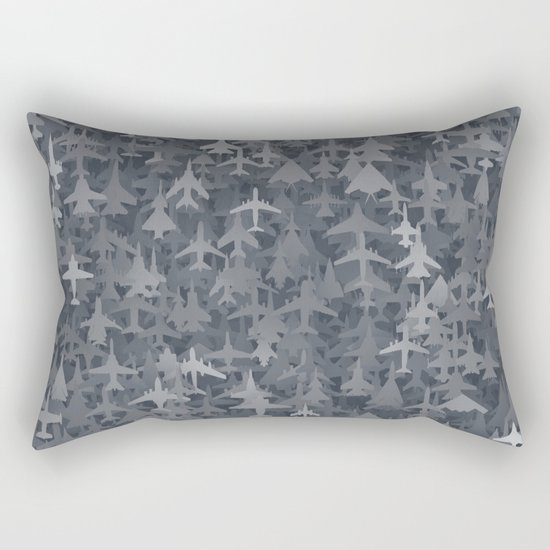 Airplanes camouflage Rectangular Pillow