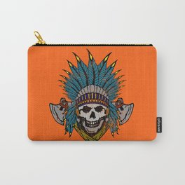 Indian Skull Head Dress Carry-All Pouch