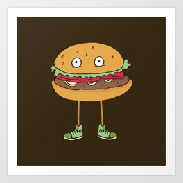 Food w/ Legs - No. 2 Art Print