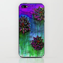 Electric Water Lilies 2 iPhone Skin