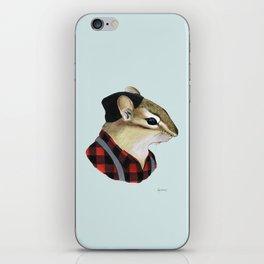 Chipmunk art print iPhone Skin