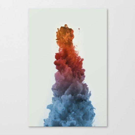 Ink Rainbow Canvas Print