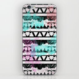 Black and White Aztec Pattern iPhone Skin