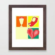 Milkshakes, Steaks, and Heartbreaks Framed Art Print