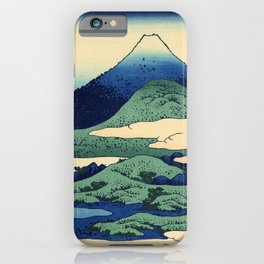 Hokusai's Umegawa in Sagami Province (High Resolution) iPhone Case