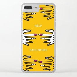 Help Eachother Clear iPhone Case