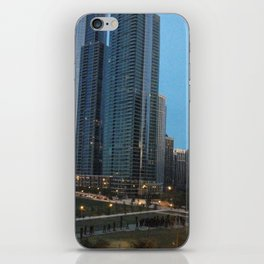Chicago Skyline, Skyscrapers, Sunset iPhone Skin