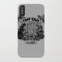 kaiju iPhone & iPod Cases featuring Camp Kaiju by Austin James