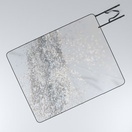 Silver Gray Glitter #3 #shiny #decor #art #society6 Picnic Blanket