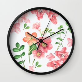 Colorfull spring flowers Wall Clock