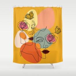 Facing You, Facing Me Shower Curtain