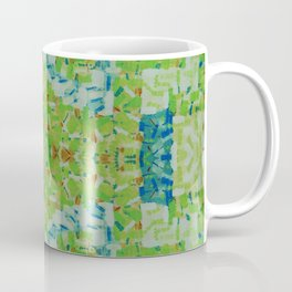 Abstract anarchism green pattern Coffee Mug