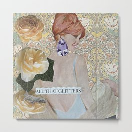 All That Glitters Collage Metal Print
