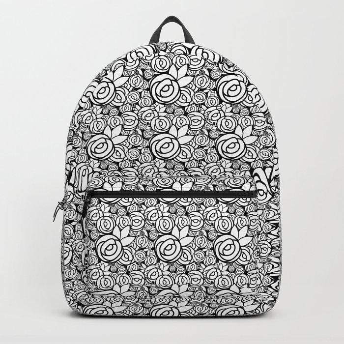 Black & White Rosettes Backpack