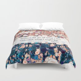 Daily Meditation Quote Duvet Cover