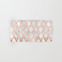 Copper & White Geo Diamonds Hand & Bath Towel