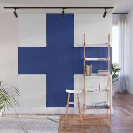 Finland flag emblem Wall Mural