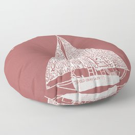 Nantucket Beaches Sailboat Floor Pillow