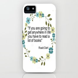 a book quote iPhone Case