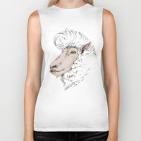 rockabilly Biker Tanks featuring Rockabilly Sheep by TurkeysDesign