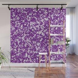 Winterberry Pixels Wall Mural