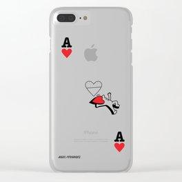 As de Corazones Clear iPhone Case