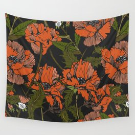 Autumnal flowering of poppies Wall Tapestry