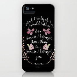 Betrayed, The Lunar Chronicles  iPhone Case