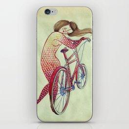 Bicycle hugger iPhone Skin