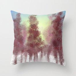 Morning Woods Throw Pillow