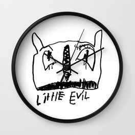 Little Evil II Wall Clock