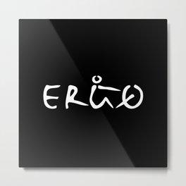 ERGO1 white Metal Print